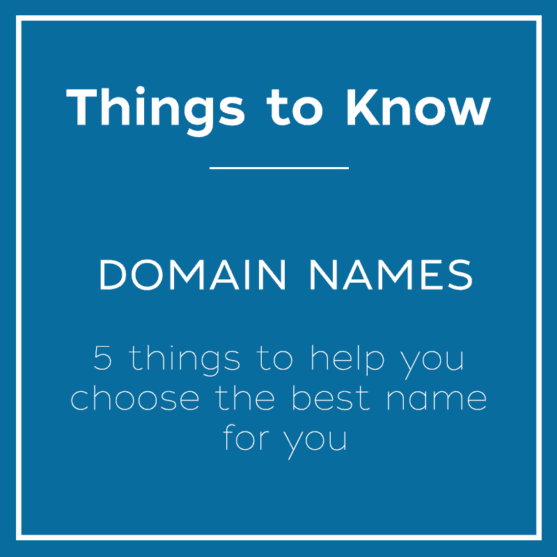 Things to Know about Domain Names - A guide by Open Eye Media