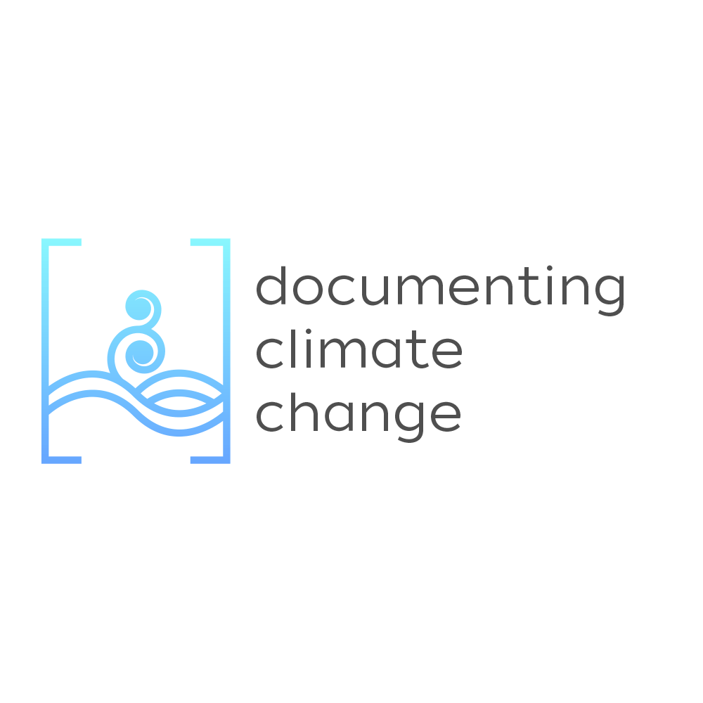 Documenting Climate Change logo - Podcast production by Open Eye Media