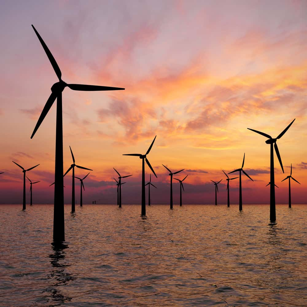 Offshore windfarm - Carbon-neutral and climate positive web hosting by Open Eye Media